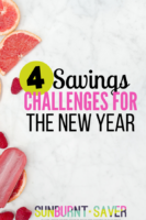 Looking for fun savings challenges for the new year? Try Weather Wednesdays from Sunburnt Saver!