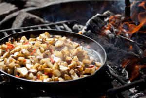 Campfire potatoes