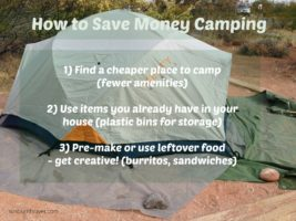 save money camping