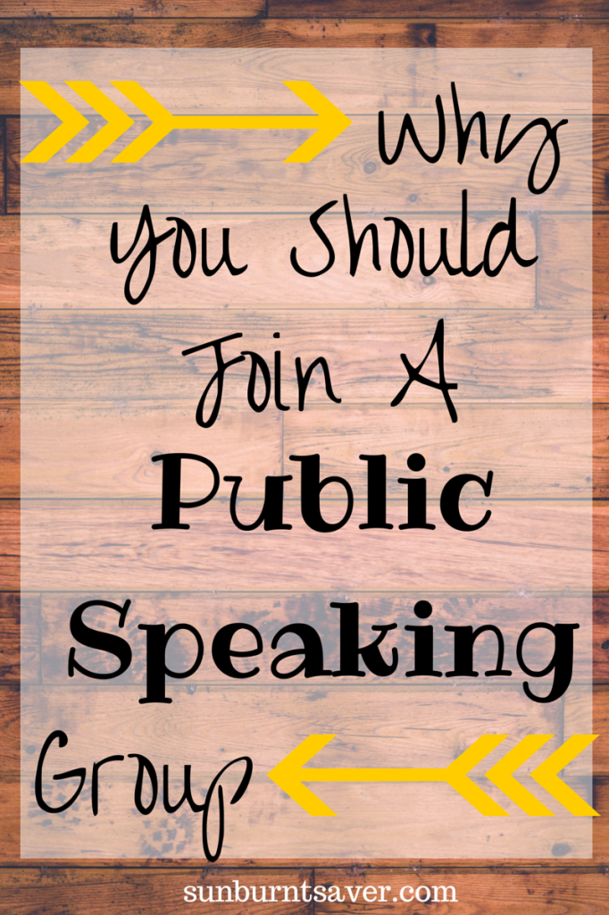 Top 3 Reasons You Should Join a Public Speaking Group via @sunburntsaver