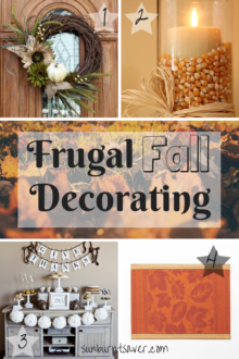 Frugal Fall Decorating Ideas, courtesy of Pinterest and via @sunburntsaver
