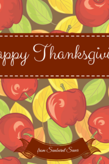 Happy Thanksgiving from Sunburnt Saver!