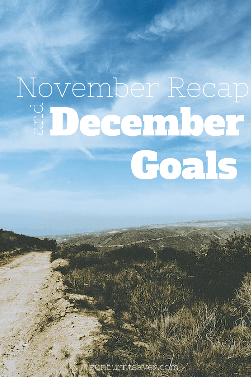 Sunburnt Saver's November recap and December goals! How did I do this month on my Weather Wednesday goal? #weatherwednesday via @sunburntsaver