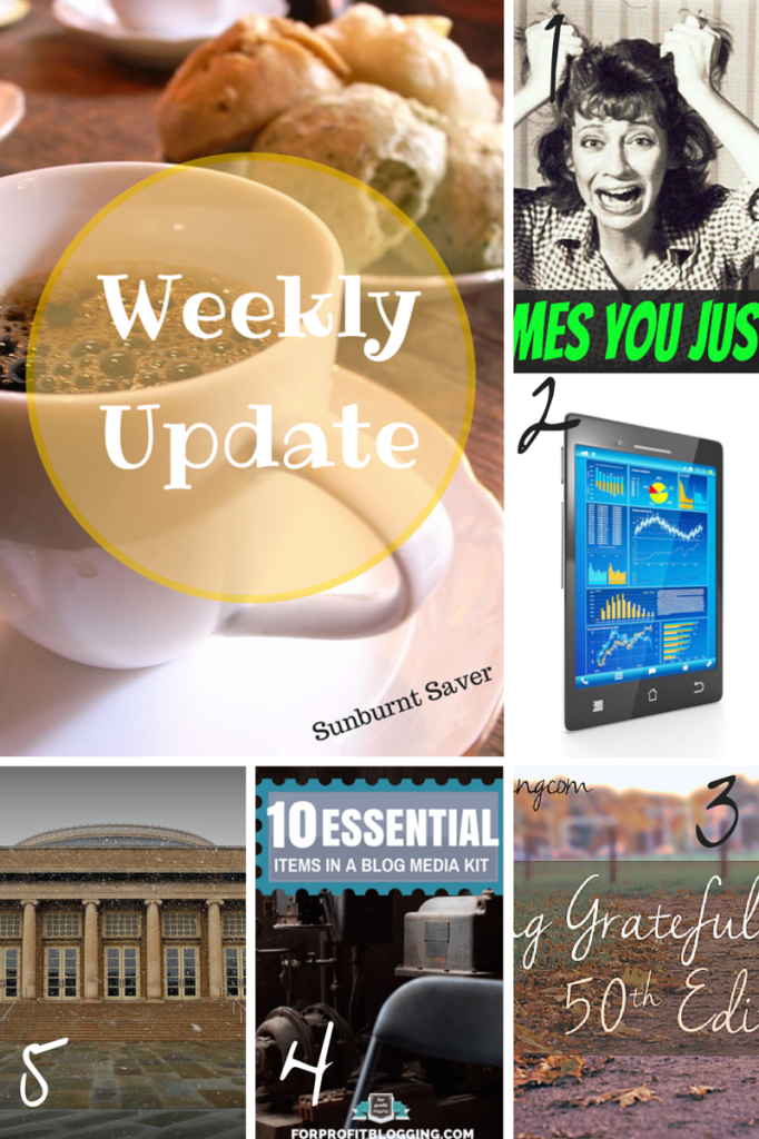 Week 4 Weekly Update and Link Love from Sunburnt Saver! via @sunburntsaver