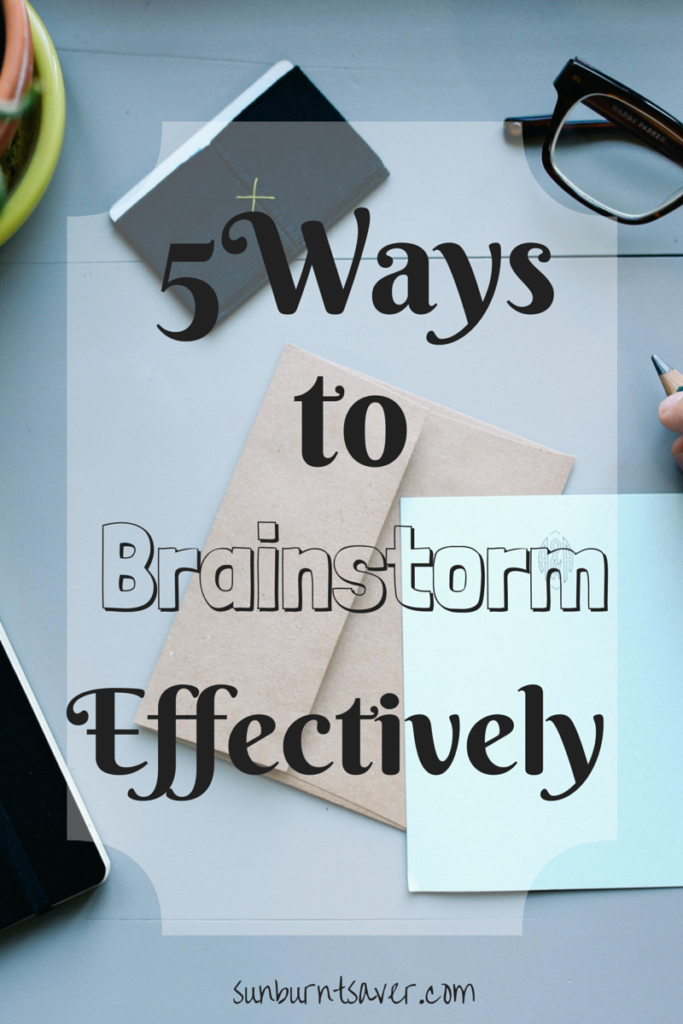 Unable to brainstorm because you're so busy? It's time to reclaim your you time! 5 Ways to Brainstorm Productively via @sunburntsaver