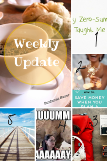 Check out the Weekly Update for Sunburnt Saver: my posts around the web, and the best posts around the PF-sphere this week!