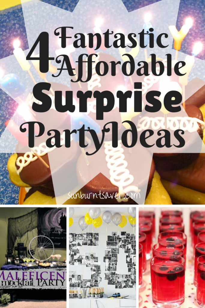 4 tips for throwing an affordable surprise party via @sunburntsaver