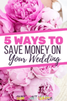 Looking to save money on your wedding? Here are the top 5 tips to save money on your wedding costs!