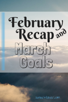 Sunburnt Saver's February Recap and March Goals! See how I did last month, my plans for this month, and share your successes here!