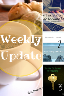Sunburnt Saver's weekly update for April 5