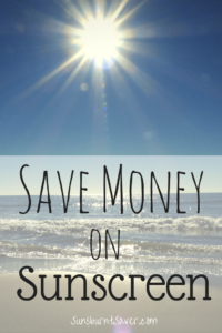 You don't have to spend a ton of money on the best sunscreen. Here are 7 tips for saving money on sunscreen this summer! @sunburntsaver