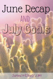 Catch up on my June Recap and goals for July! This month we celebrate my one year blogiversary - exciting things to come! :) #budgeting #goals