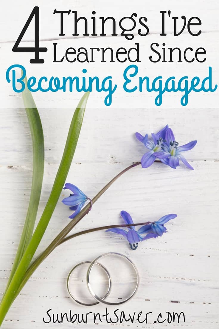 Since becoming engaged, I've learned a lot about wedding planning and the wedding process. What did you learn when you got engaged? Share with me in the comments!