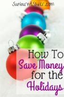 How to Save Money for the Holidays