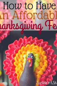 Trying to have a frugal Thanksgiving? How you can celebrate Thanksgiving on a budget with these money-saving tips!