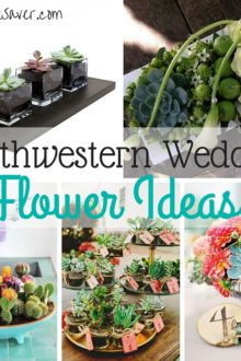 Want to have a southwestern wedding? You need southwestern wedding flowers! Here are several great centerpiece and southwestern wedding favor ideas!