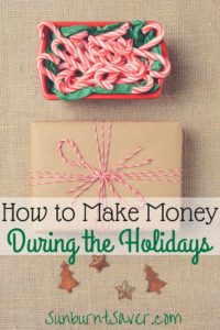 The holidays aren't just about spending money on gifts - it's possible to make money during the holidays, too! Check out these money-making ideas at Sunburnt Saver.