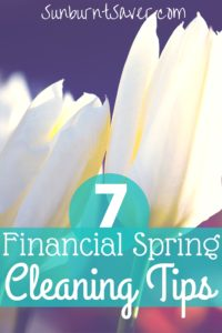 7 financial spring cleaning tips sunburnt saver What month is spring cleaning