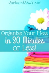 Cleaning up after a long day is tough, but it doesn't have to take you hours! Here's how I organize my mess every day in 30 minutes or less!