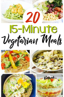 Want to save money, eat well and not spend a ton of time in the kitchen? Check out these 20 minute, delicious and quick vegetarian meals!