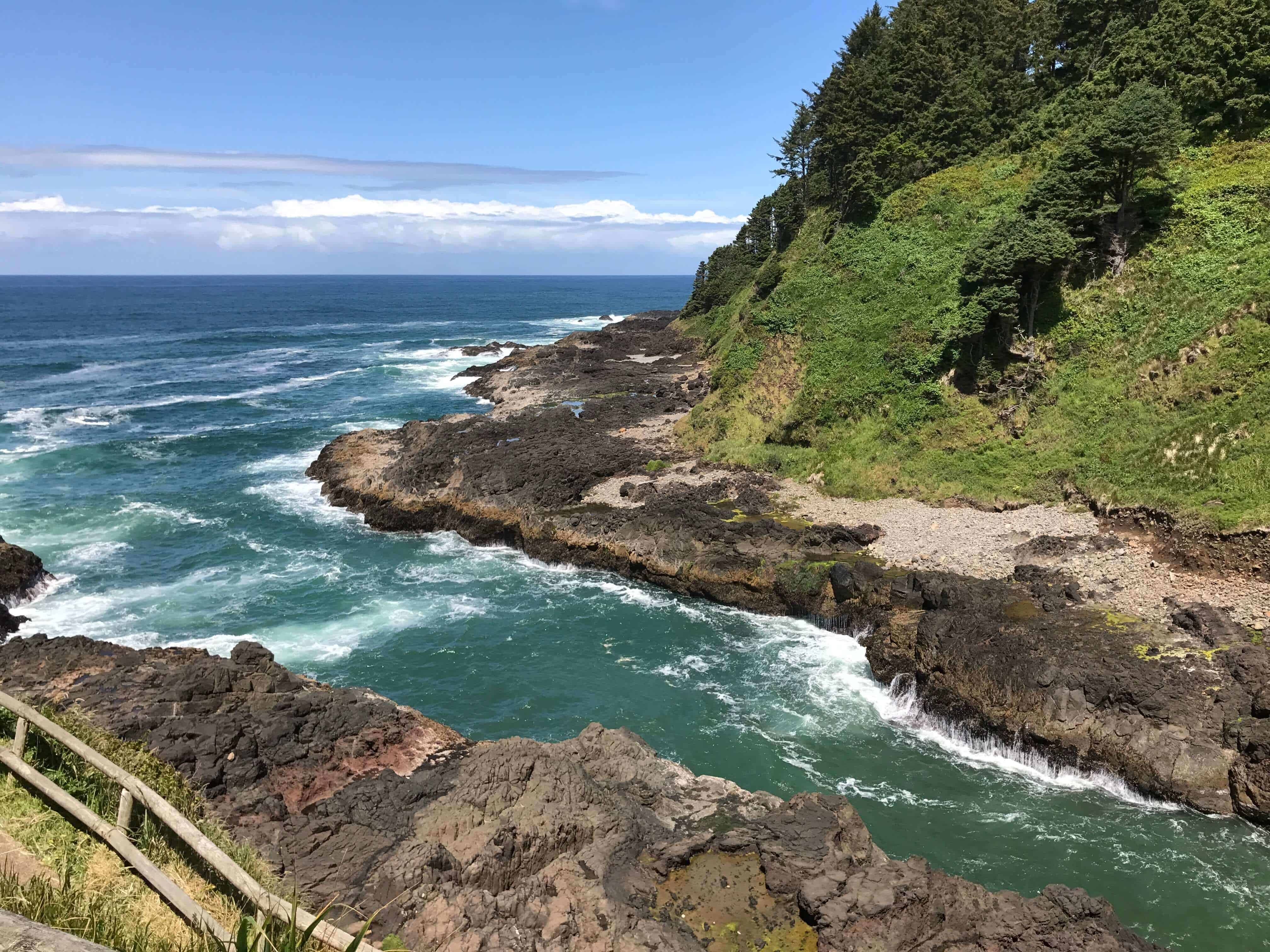 Our incredible view in Yachats, OR - unfiltered!