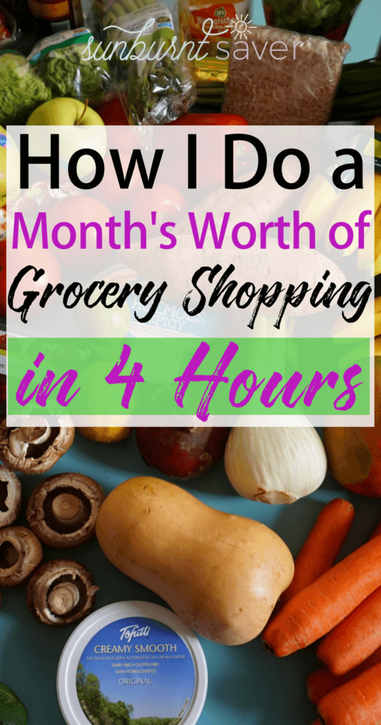 Are you looking to save time and money on grocery shopping? So was I, so I took a few months to figure out the best strategies. Now, I only spend 4 hours/mo grocery shopping!