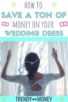save money on your wedding dress
