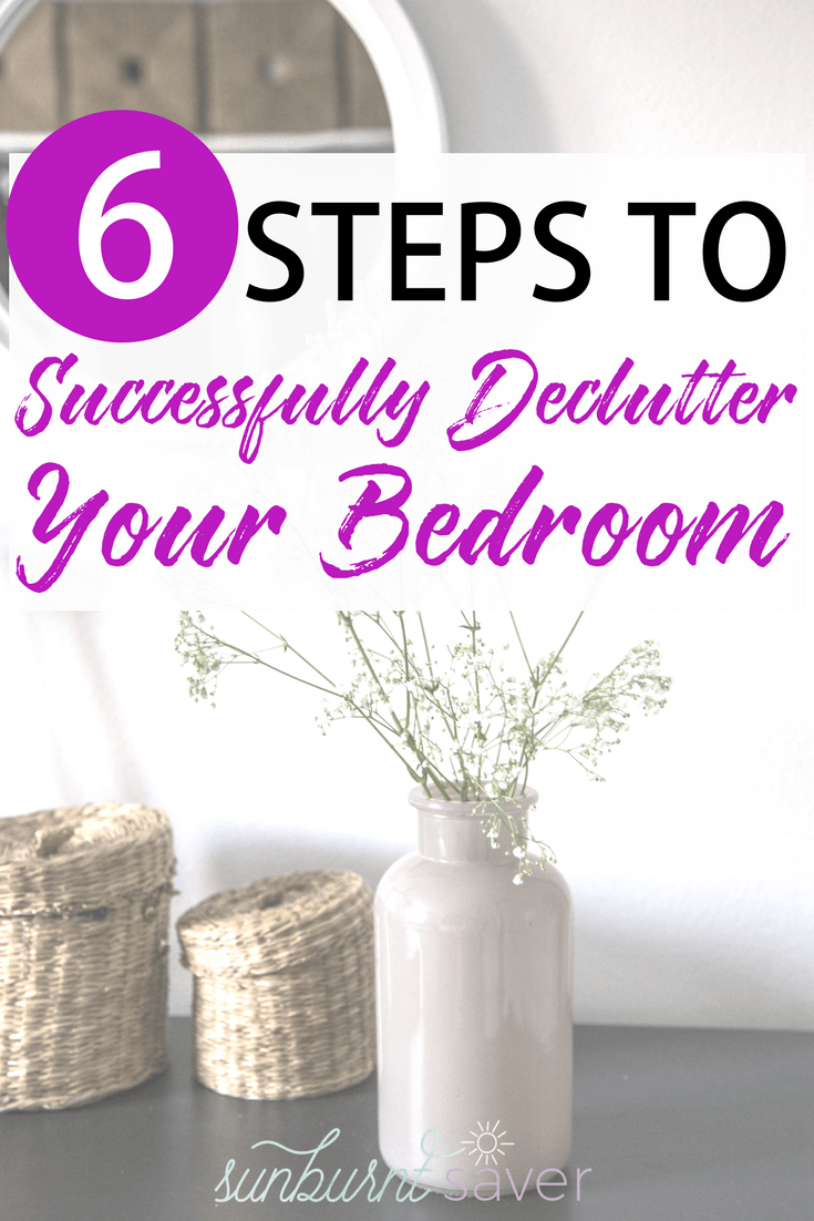 Looking for some spring cleaning tips? Here are 6 tips to successfully declutter your bedroom, including setting up a playlist to get yourself ready!