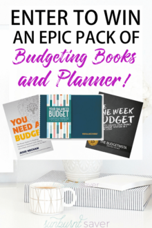 Enter for your chance to win two EPIC budgeting books and budgeting planner! If you're looking to crush your budget in 2018, you need practical, solid advice for setting and sticking to a budget. These books and planner will help you!