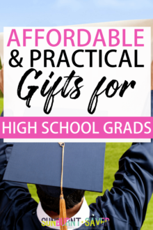 Looking for affordable and practical gifts for high school grads? This short and practical list will help your high school grad succeed in college or where ever life takes him/her!