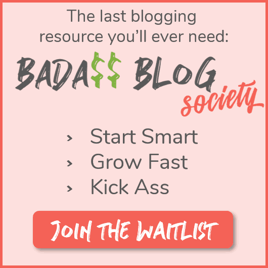 image of sign up for the badass blog society